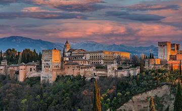 Vistas alhambra de Granada
