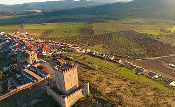 Castillo en la provincia de Badajoz