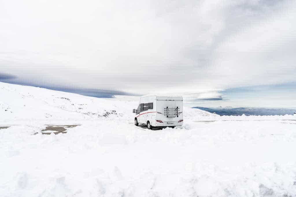 autocaravana nieve